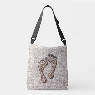 Snow Leopard Feet Crossbody Bag