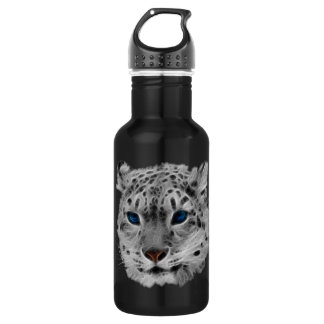 Snow Leopard Fractal 532 Ml Water Bottle