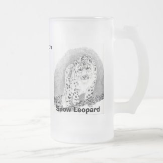 Snow Leopard Frosted Mug