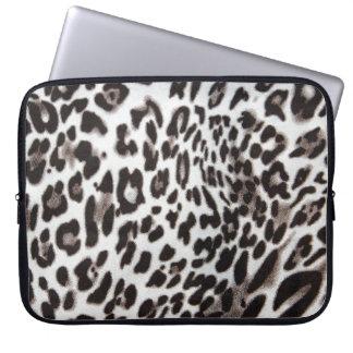 Snow Leopard Fur Laptop Sleeves