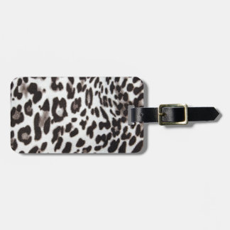 Snow Leopard Fur Luggage Tag