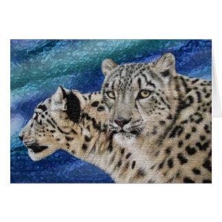 Snow Leopard Habitat Notecards Card