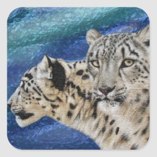 Snow Leopard Habitat Stickers