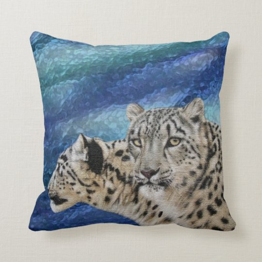 Snow Leopard Habitat Wildlife Pillow