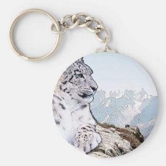 Snow Leopard Keychain