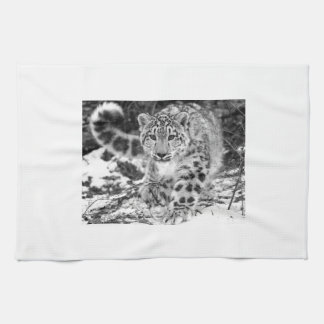 Snow Leopard Kitchen Towel