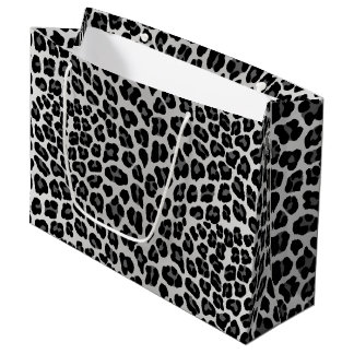 Snow leopard large gift bag
