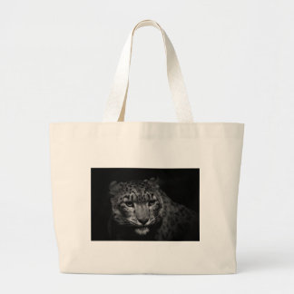snow-leopard large tote bag