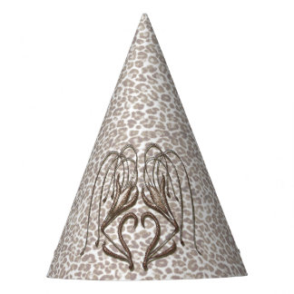Snow Leopard Lily Party Hat