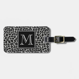 Snow leopard luggage tag