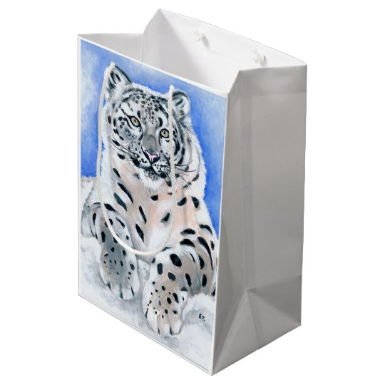Snow Leopard Medium Gift Bag