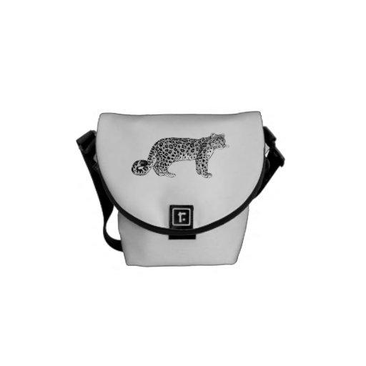 Snow Leopard Courier Bag