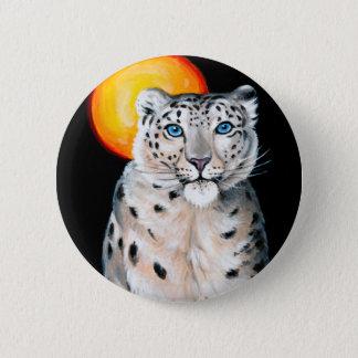 Snow Leopard Moon 2 Inch Round Button