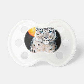 Snow Leopard Moon Baby Pacifiers