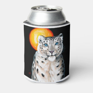 Snow Leopard Moon Can Cooler