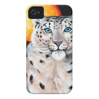 Snow Leopard Moon Case-Mate iPhone 4 Case