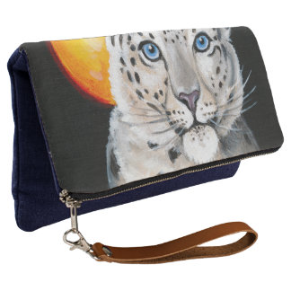 Snow Leopard Moon Clutch
