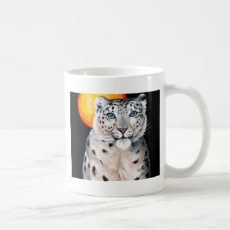 Snow Leopard Moon Coffee Mug