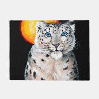 Snow Leopard Moon Doormat