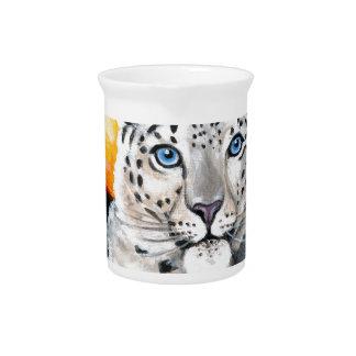 Snow Leopard Moon Drink Pitcher