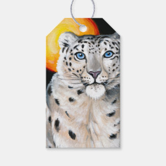 Snow Leopard Moon Gift Tags