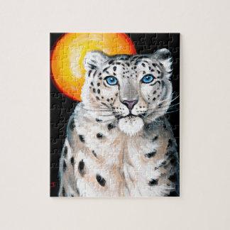 Snow Leopard Moon Jigsaw Puzzle