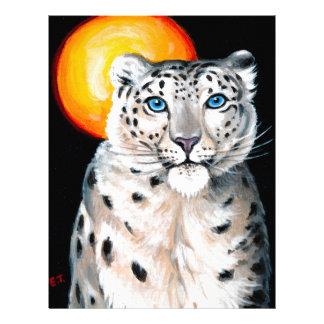 Snow Leopard Moon Letterhead