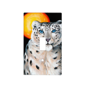 Snow Leopard Moon Light Switch Cover
