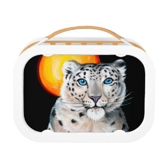 Snow Leopard Moon Lunch Box