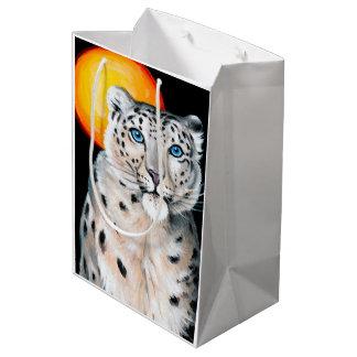 Snow Leopard Moon Medium Gift Bag