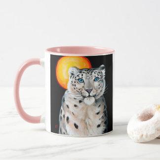 Snow Leopard Moon Mug