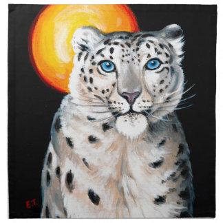 Snow Leopard Moon Napkin