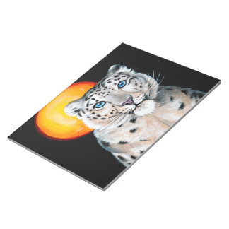 Snow Leopard Moon Notepads