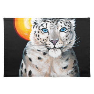 Snow Leopard Moon Placemat