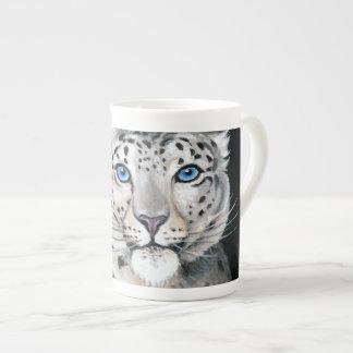 Snow Leopard Moon Tea Cup