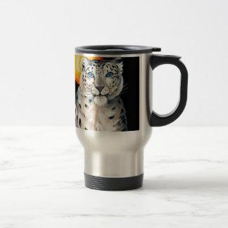 Snow Leopard Moon Travel Mug