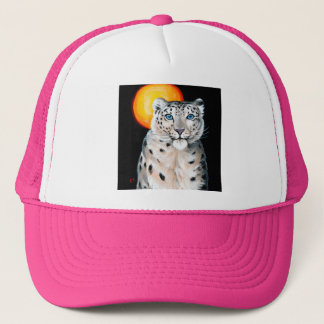 Snow Leopard Moon Trucker Hat