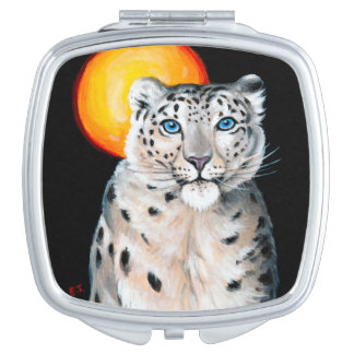 Snow Leopard Moon Vanity Mirrors