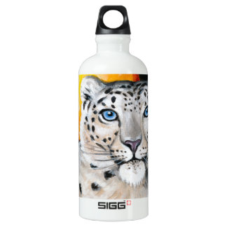 Snow Leopard Moon Water Bottle