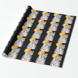 Snow Leopard Moon Wrapping Paper