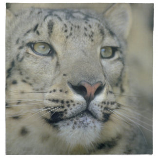 snow leopard napkin