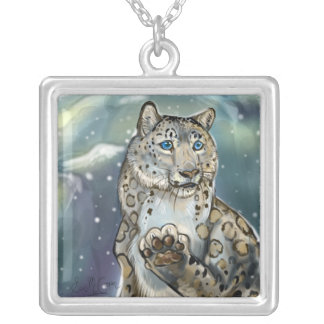 Snow Leopard~necklace Silver Plated Necklace