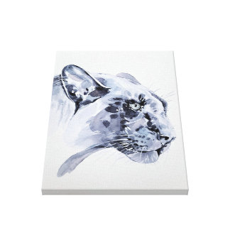 Snow leopard on canvas