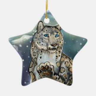 Snow Leopard~ornament Ceramic Ornament