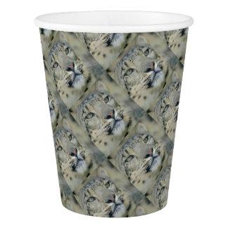 snow leopard paper cup