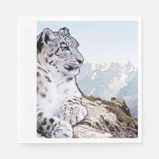 Snow Leopard Paper Napkins