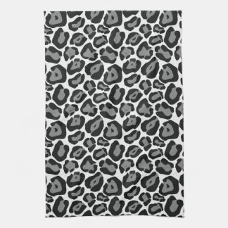 Snow Leopard Pattern Kitchen Towel