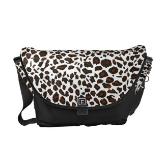 Snow Leopard Pattern Commuter Bag
