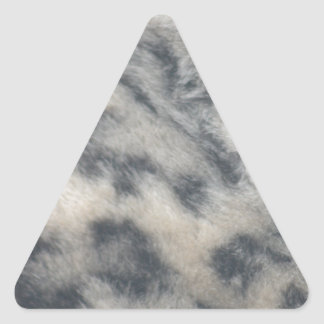 Snow Leopard pattern Triangle Sticker