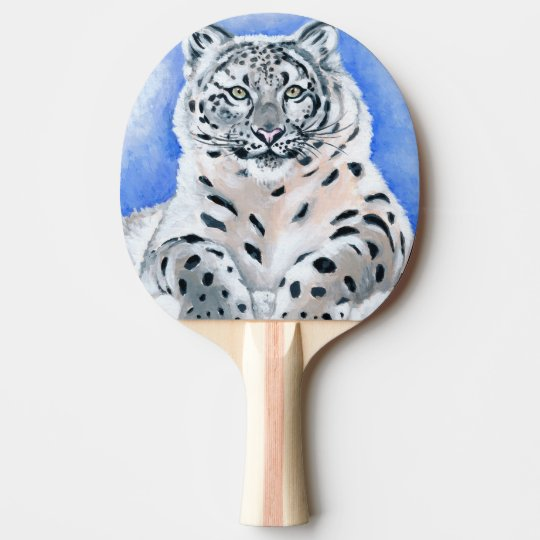 Snow Leopard Ping-Pong Paddle